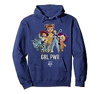 Disney Pixar Toy Story 4 Grl Pwr Distressed T-shirt Hoodie Navy
