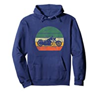 Biker Retro T-shirt Colorful Vintage Gift Idea Hoodie Navy