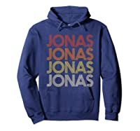 Jonas First Given Name Pride Vintage Style T Shirt Hoodie Navy