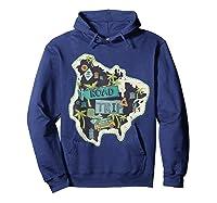 Road Trip 2019 Family Summer Vacation Hippie Van Surf Gift Zip Shirts Hoodie Navy
