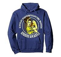 Unbreakable Alveolar Rhabdomyosarcoma Warrior T Shirts Hoodie Navy