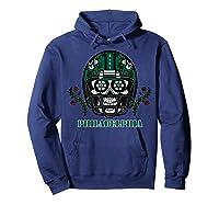 Philadelphia Football Helmet Sugar Skull Day Of The Dead T Shirt Hoodie Navy