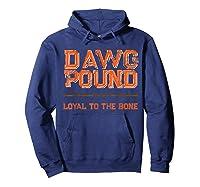 Dawg Pound Shirt Loyal Bone T-shirt Hoodie Navy