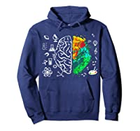 Colorful Brain Science And Art Love Science Art Gifts T Shirt Hoodie Navy