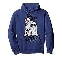 Vintage Boo Boo Crew Funny Halloween Ghost Nurse Nursing Shirts Hoodie Navy
