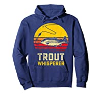 Trout Fishing Brook, Brown, Rainbow Trout Fish Gift Shirts Hoodie Navy
