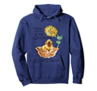You Are My Sunshine Golden Retriever T Shirt, Sunflower And Hoodie Navy