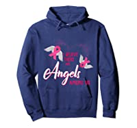 I Believe There Are Angels Among Us Breast Cancer Awareness T Shirt Hoodie Navy