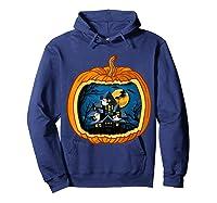 Funny Pumpkin Vintage Halloween Pumpkin Costume Shirts Hoodie Navy