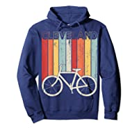 Retro Vintage Cleveland City Cycling Shirt For Cycling Lover Hoodie Navy