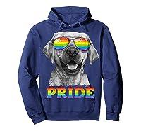 Labrador Gay Pride Lgbt Rainbow Flag Sunglasses Funny Lgbtq Shirts Hoodie Navy