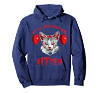 We All Meow Down Here Kitten Halloween Scary Cat T-shirt Hoodie Navy