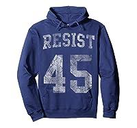 Resist Impeach 45 Anti Trump T Shirt Hoodie Navy