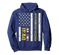 Proud Iraq Afghanistan Veteran Flag Gifts For Veteran Day T Shirt Hoodie Navy