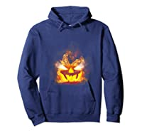 Happy Halloween Pumpkin Face Cartoon Funny Shirts Hoodie Navy