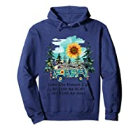 Sunflower Into The Forest I Go To Lose My Mind Hippie Shirt Hoodie Navy