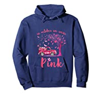 In October We Wear Pink Truck And Pumpkin Breast Cancer Tank Top Shirts Hoodie Navy