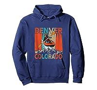 Denver Colorado Water River Rapids Kayaking Shirts Hoodie Navy