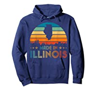 Vintage Made In Illinois Shirts Hoodie Navy
