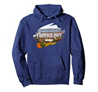 Traverse City Michigan Shirt For Midwest Gifts T Shirt Hoodie Navy