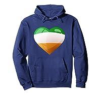 Cute Heart Ireland Flag Celtic Saint Patrick Day T Shirt Hoodie Navy