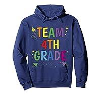 Team 4th Fourth Grade Tea 1st Day Of School T Shirt Hoodie Navy
