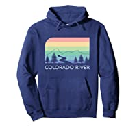Colorado River Retro Vintage Rocky Mountains Nevada Utah Rio Shirts Hoodie Navy