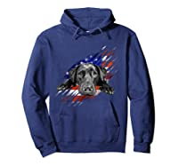 Black Labrador Usa Flag Lab Owner Bird Duck Hunter Gift Shirts Hoodie Navy
