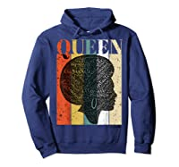 African American Queen T Shirt Black History Urban Soul Tees Hoodie Navy