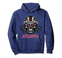 Atlanta Football Helmet Sugar Skull Day Of The Dead T Shirt Hoodie Navy