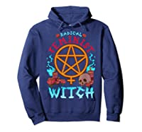 Radical Feminist Witch Pentagram Wiccan Resist Impeach T Shirt Hoodie Navy