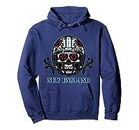 New England Football Helmet Sugar Skull Day Of The Dead T Shirt Hoodie Navy