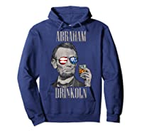 4th Of July Shirts For Abraham Drinkoln Abe Lincoln Tee T Shirt Hoodie Navy