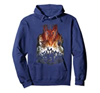 Lord Of The Rings Evil Rising Shirts Hoodie Navy