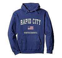 Rapid City South Dakota Sd Vintage American Flag Sports T Shirt Hoodie Navy