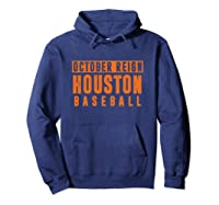 Distressed October City Baseball Apparel   Houston Reign T-shirt Hoodie Navy