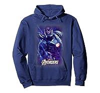 Marvel Avengers Endgame War Machine Galactic Poster T-shirt Hoodie Navy