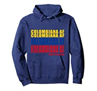 Colombiana Af Colombia Flag Colombian Roots T-shirt Hoodie Navy