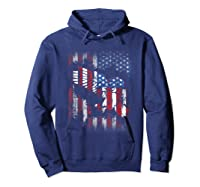 American Flag Eagle For Proud Americans On 4th July Shirts Hoodie Navy