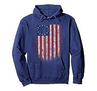 Betsy Ross Shirt 4th Of July American Flag Tshirt Hoodie Navy