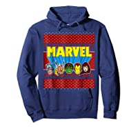 Avengers Classic Ugly Christmas Sweater Shirts Hoodie Navy