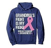Breast Cancer Awareness Month Grandmas Fight Grandma Gift T Shirt Hoodie Navy