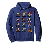 Friends Pixel Halloween Icons Scary Horror Movies Shirts Hoodie Navy
