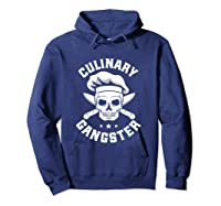 Chef Knife Skull Gangster Culinary Gangster Gift T Shirt Hoodie Navy