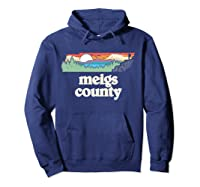 Meigs County Tennessee Outdoors Retro Nature Graphic T Shirt Hoodie Navy
