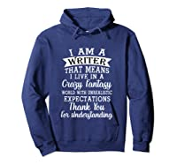 I M A Writer Gift For Authors Novelists Literature Funny T Shirt Hoodie Navy