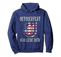 German Eagle Deutschland Us Flag Oktoberfest Shirts Hoodie Navy