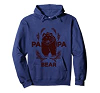 Papa Bear Vintage Bear Dad Father S Day Gift T Shirt Hoodie Navy