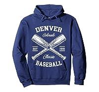 Denver Baseball, Classic Vintage Colorado Retro Fans Gift T-shirt Hoodie Navy