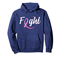 Fight Breast Cancer Awareness Month T Shirt Hoodie Navy